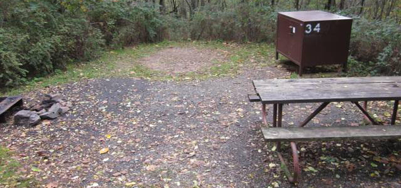 Loft Mountain Campground - Site 34Site 34