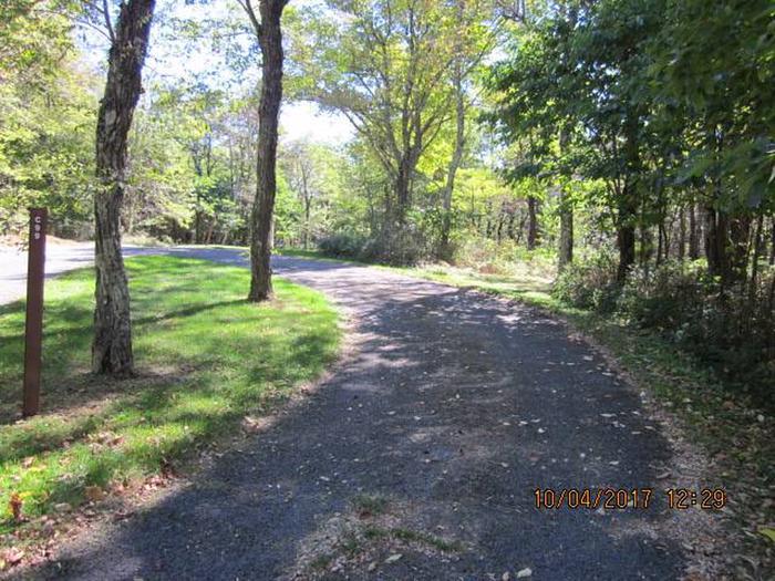 Loft Mountain Campground - Site C99Site driveway