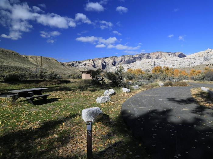 Site 2Pull-through parking area.