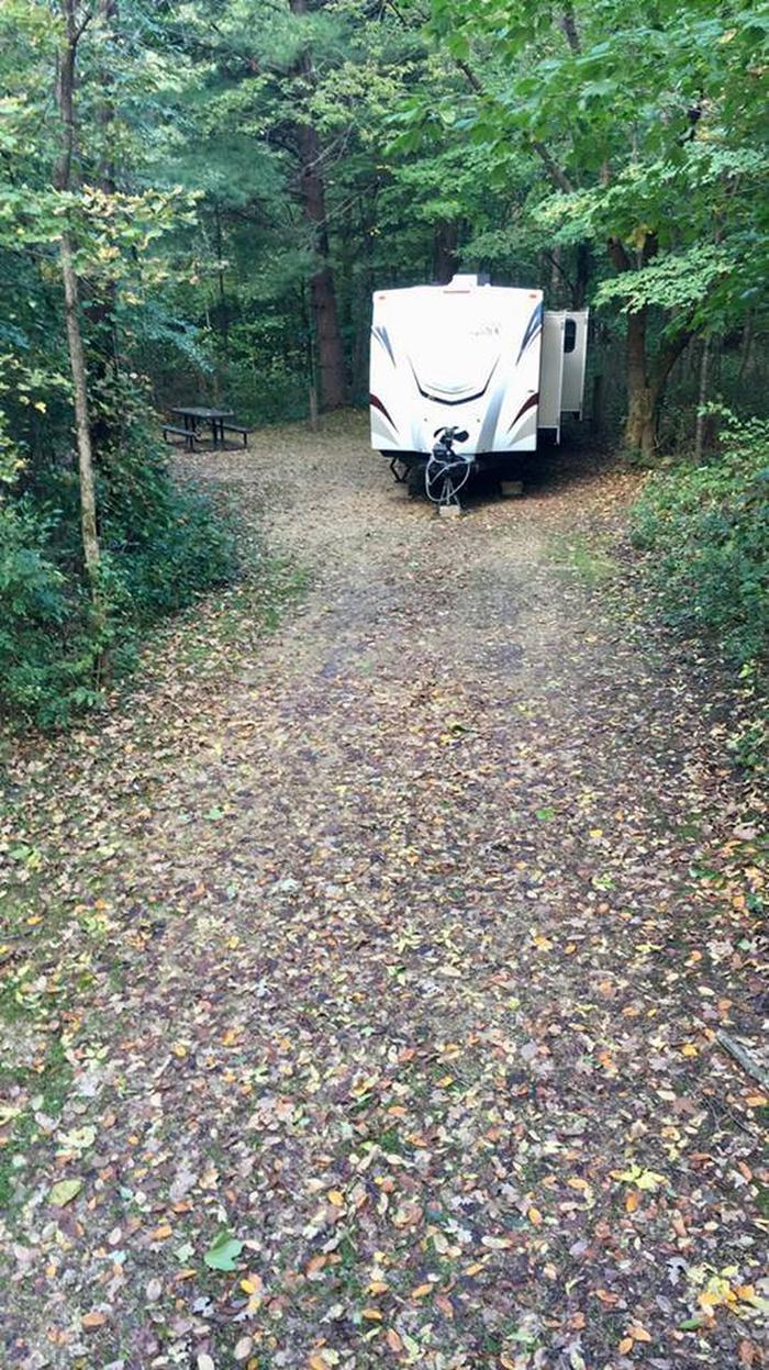 Site 8 with camper Site 8 with camper