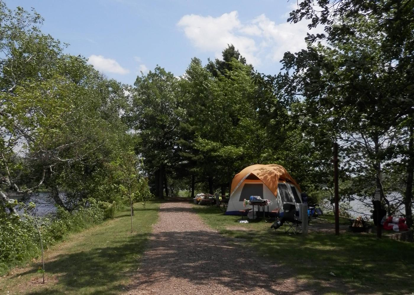Tent campsiteSouth tent camping area