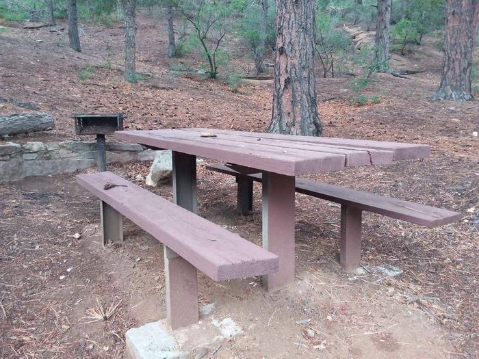 this is a picture of a table and grillTable and grill right outside the reservable pavilion for extra seating.