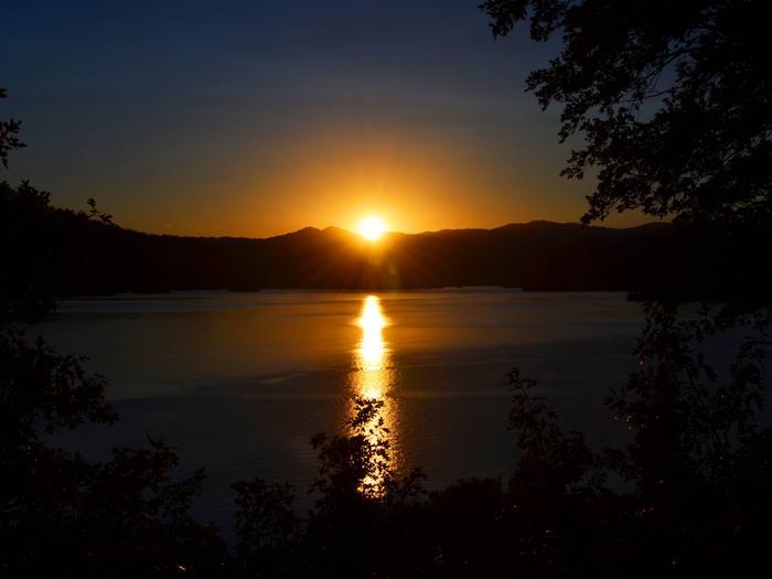 Golden orange sunset over Whiskeytown LakeWhiskeytown Sunset