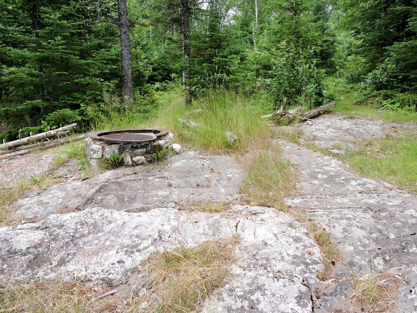 B7 - Jorgens Lake backcountry campsiteView looking in at campsite