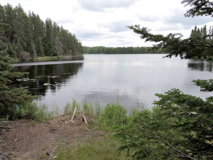 B14 - Quarter Line Lake backcountry campsiteView of Quarter Line Lake