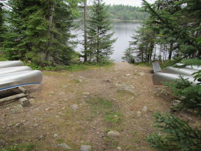B9 - Locator Lake backcountry campsiteLocator Lake canoe access