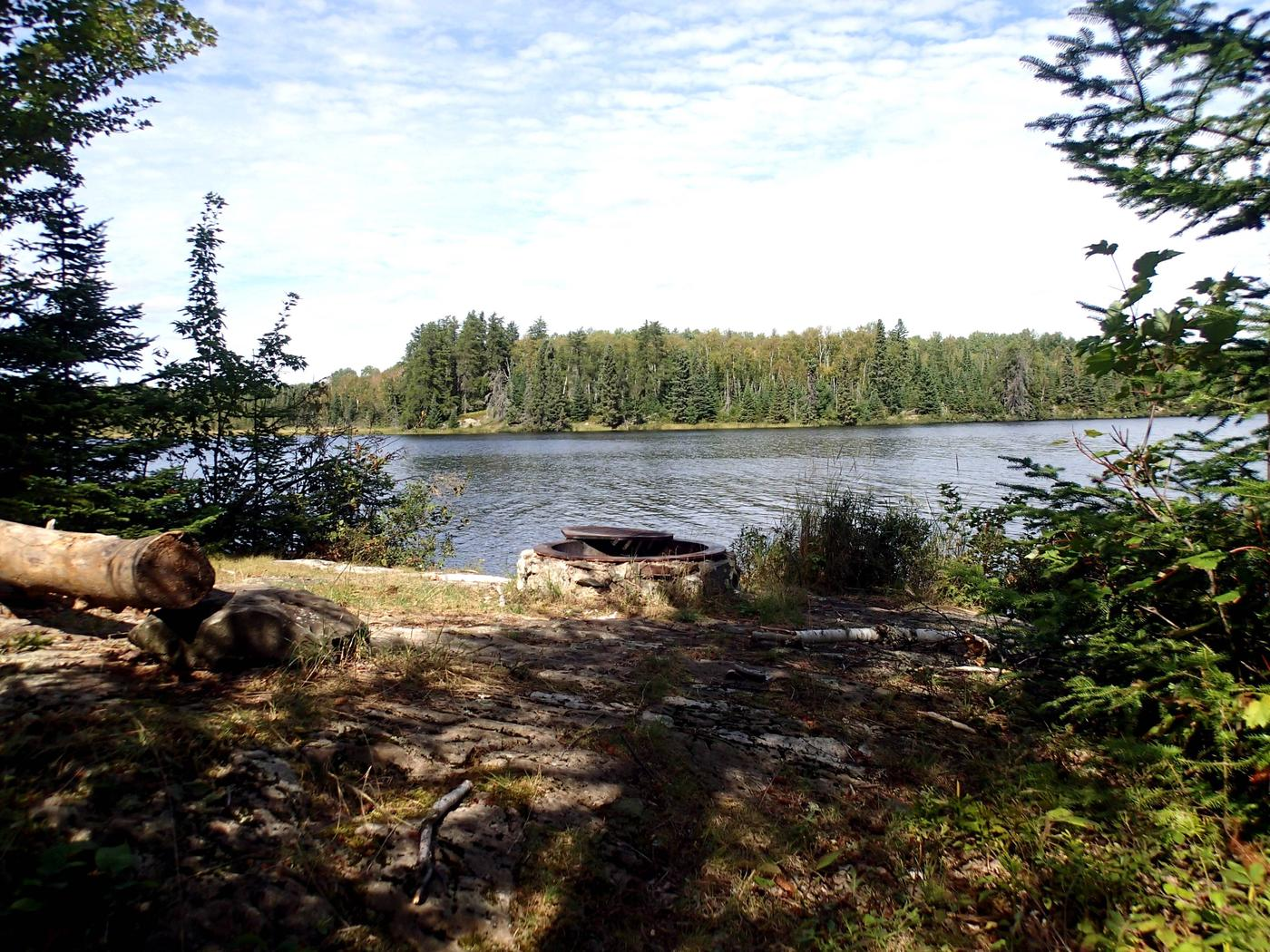 B7 - Jorgens Lake backcountry campsiteView looking out from campsite