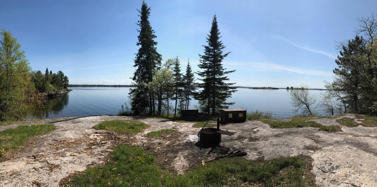 Looking out onto Kabetogama Lake from a campsite on Cutover Island