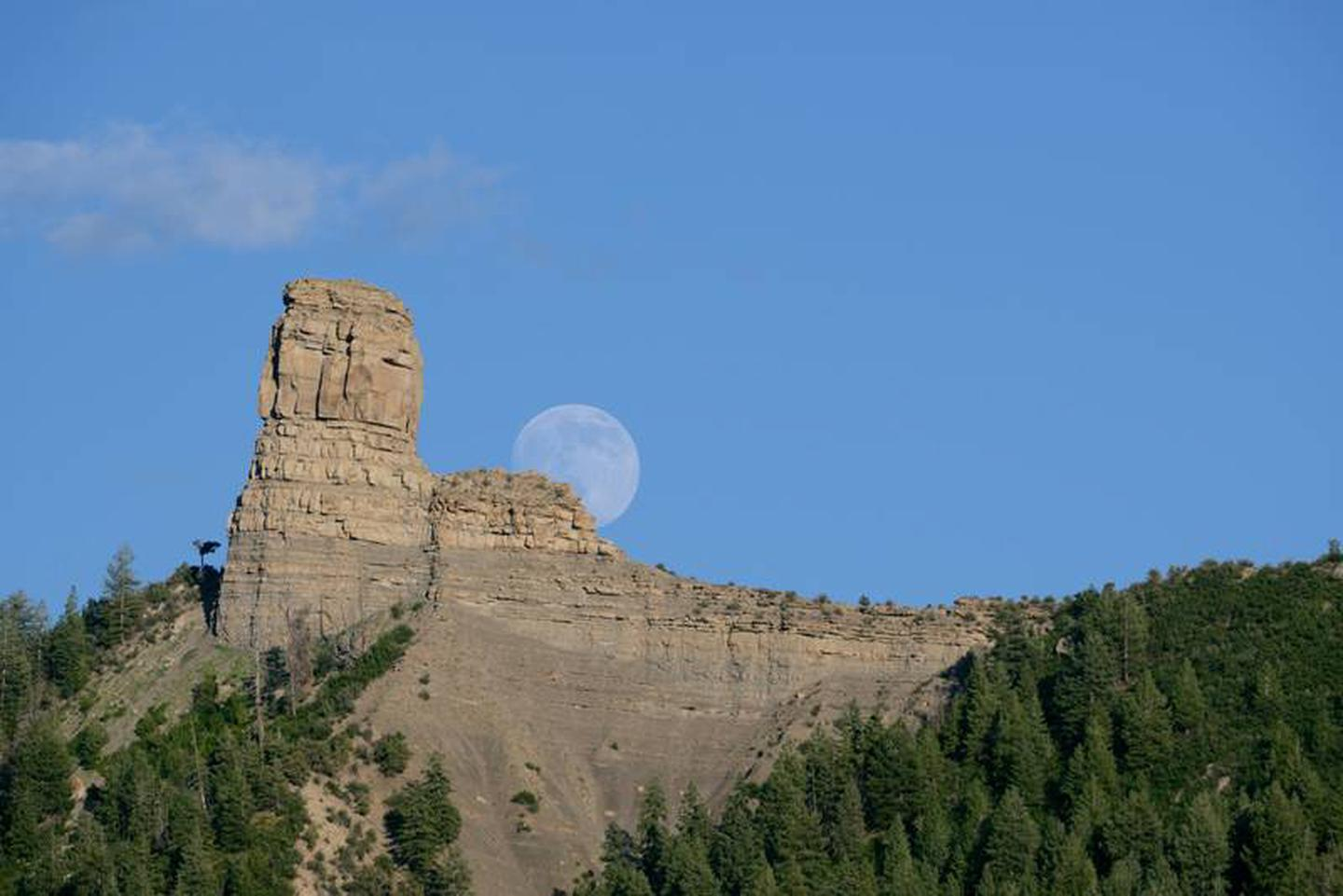 FULL MOON PROGRAM AT CHIMNEY ROCKWatch the full moon rise over the San Juan Mountains at the Full Moon Program.  You'll be torn between looking west to see the spectacular sunset and focusing on the eastern mountain range to see the first sliver of moon.