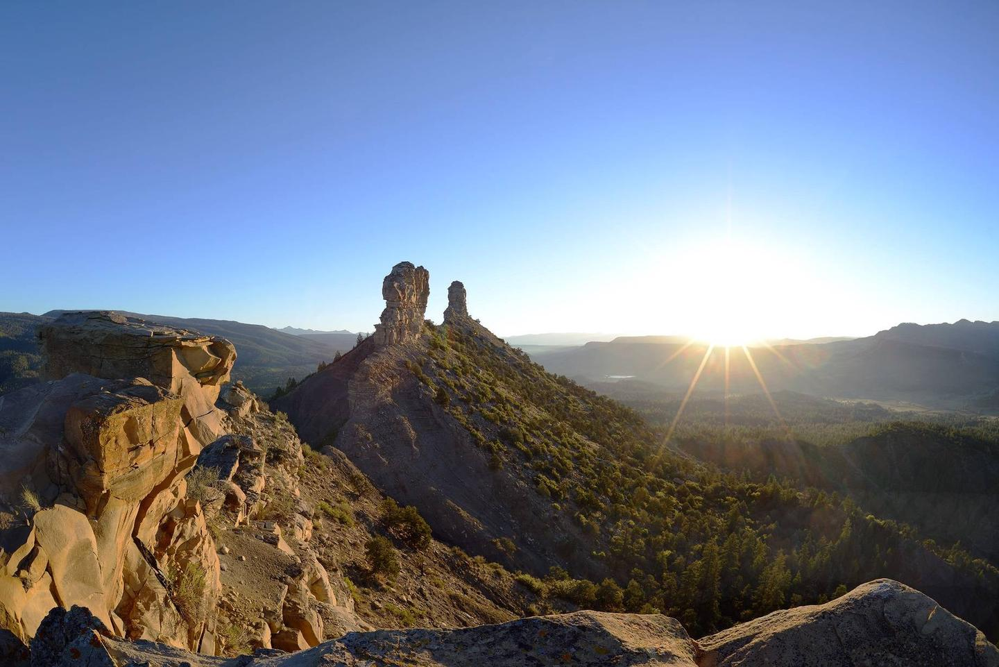 Archaeological ruins and artifacts, abundant wildlife, and its setting in the breathtaking San Juan National Forest make Chimney Rock a must-see.Watch the sunrise over the San Juan Mountains from on top of Chimney Rock mesa where the ancient Puebloans used to live over a 1,000 years ago.