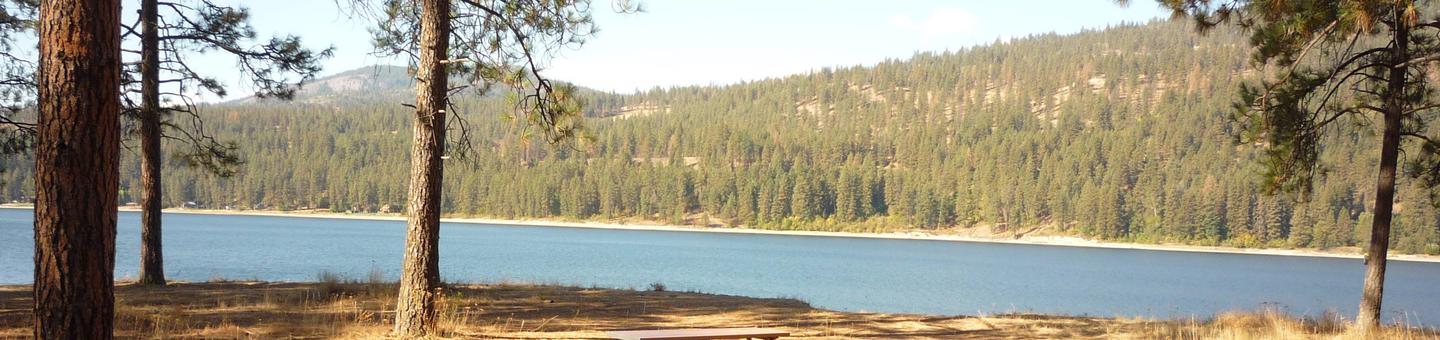 Overlooking the lakeKettle Falls Campground