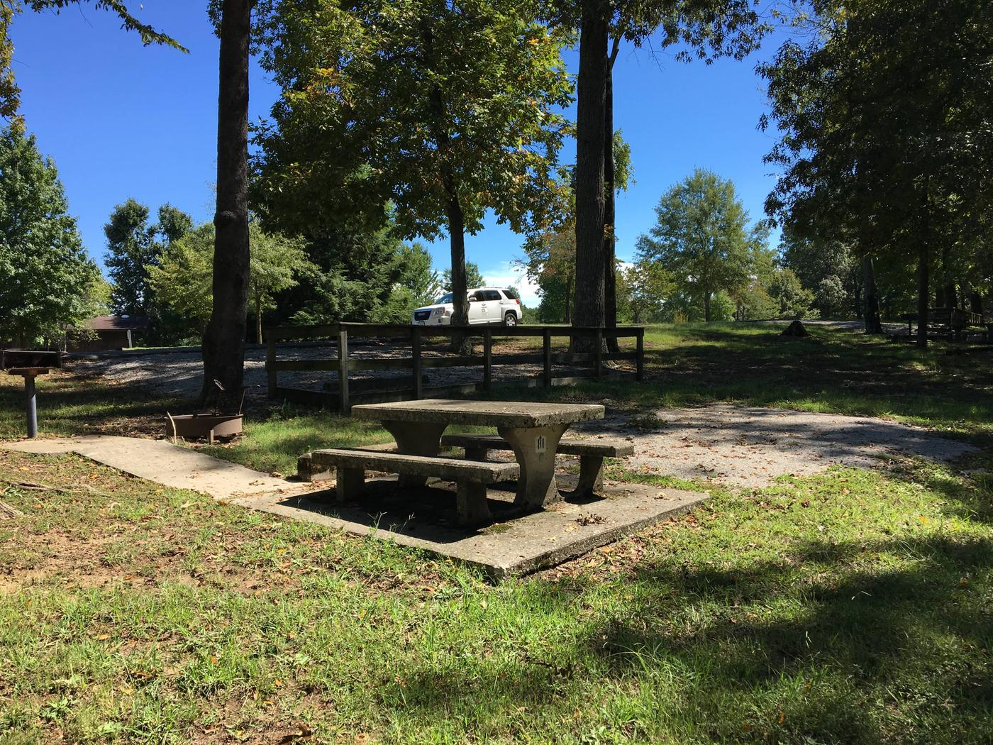 WILLOW GROVE CAMPGROUND SITE #81 CONCRETE TABLEWILLOW GROVE CAMPGROUND SITE #81