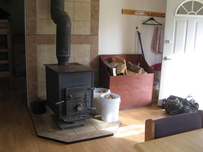 Wood Stove Wood is provided for stove