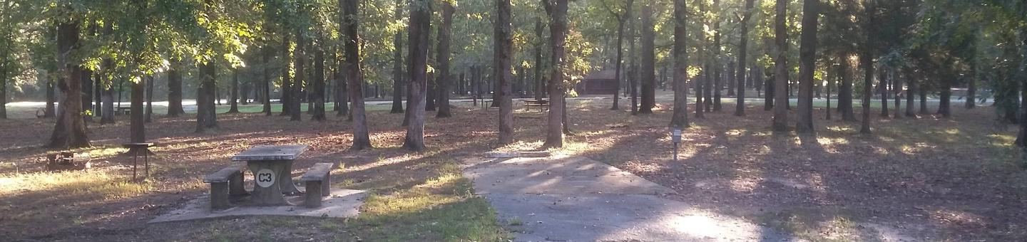 100 yards to Shower/Restroom. 200 Yards to Lake Merrisach Access.C-3