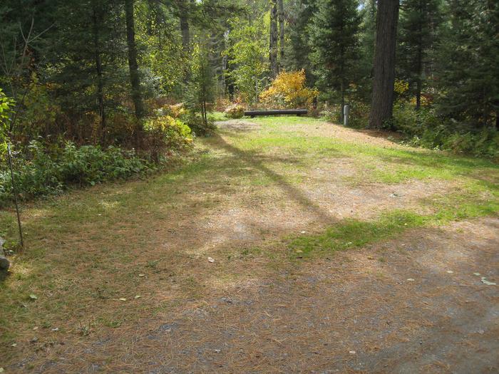 Camping parking spur.Parking spur for site 1.