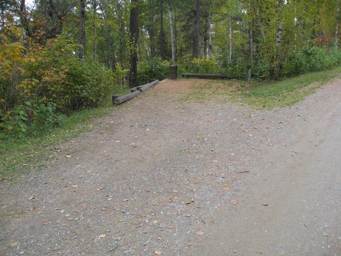 Picture of camping spur.Site 26 camping spur for vehicle and trailer.