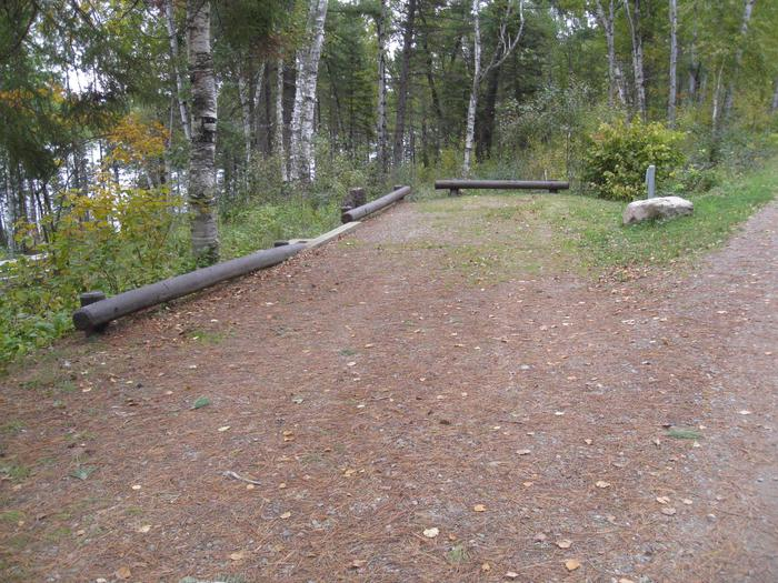 Picture of camping spur.Site 27 parking spur for vehicle and trailer.  Rest of site is accessed via stairs.