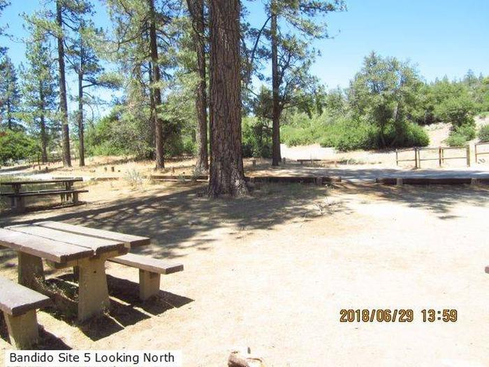 Bandido Group Campground.View from Site #5 Looking North.