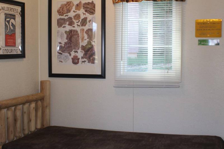 twin bedCabin 3: View to left of door showing twin bed.