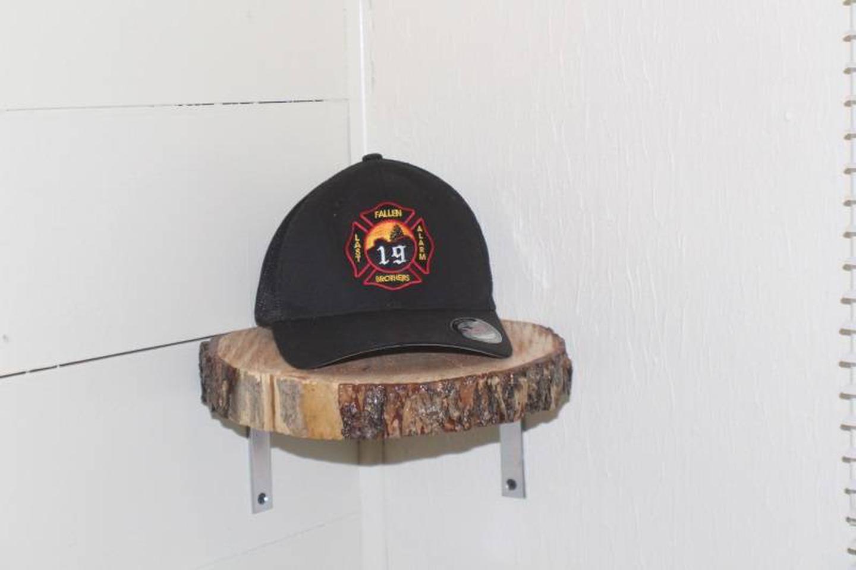 shelf, capCabin 4: Fire Themed décor with tribute to the AZ Granite Mountain Hot Shots.