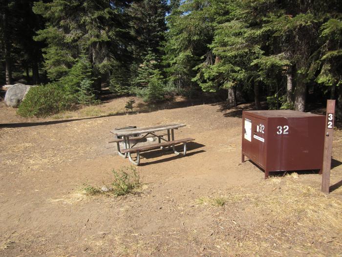 Site 32, Sunny, Near Restrooms