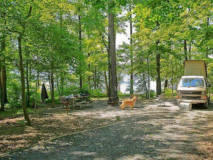 Badin Lake Campground-Site 007