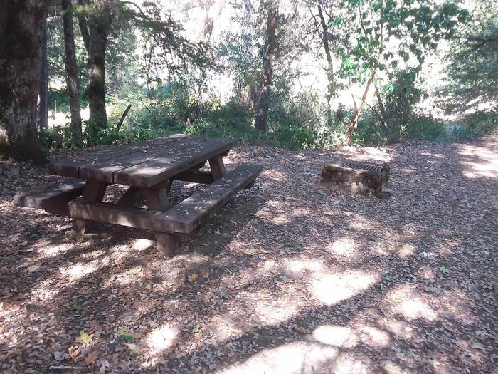 Sarah Totten Campground along the Klamath Wild and Scenic RiverSarah Totten Campground site #1