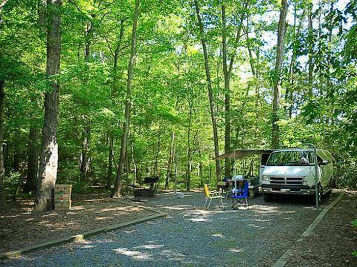 Badin Lake Campground-Site 022