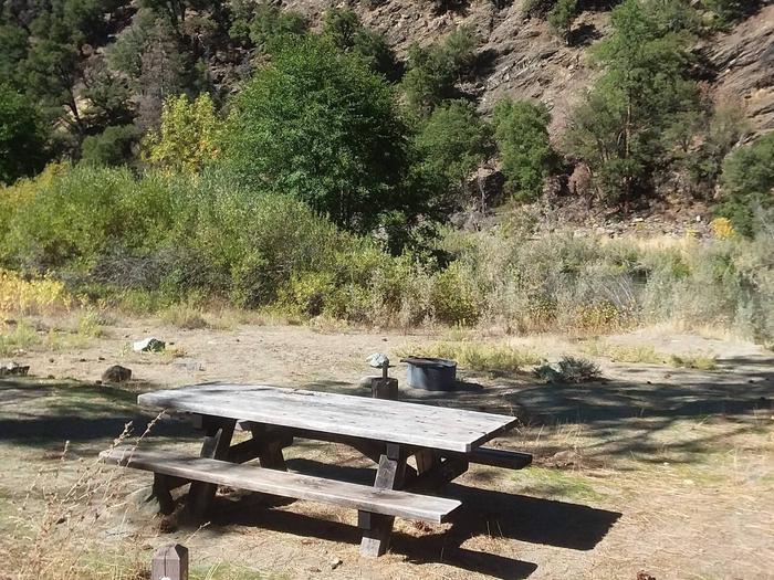Sarah Totten Campground along the Klamath Wild and Scenic RiverSarah Totten Campground site #8