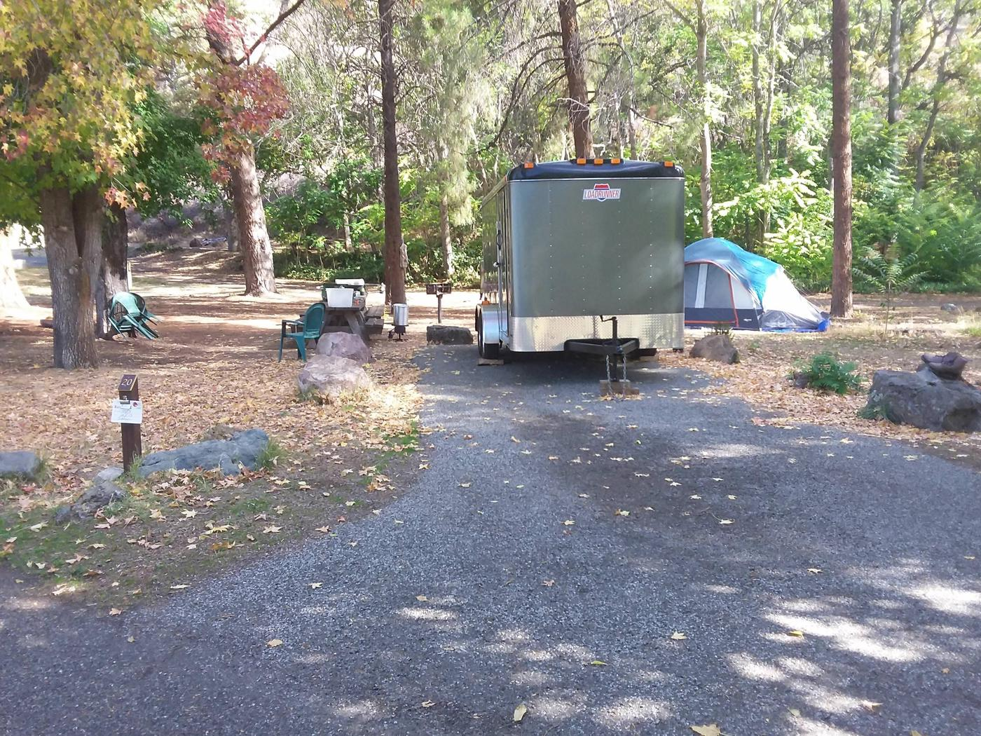 Tree of Heaven Campground along the Klamath Wild and Scenic RiverTree of Heaven Campground site #20