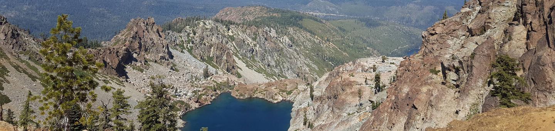 View from Sierra ButtesView from Sierra Buttes, hike near Berger Campground