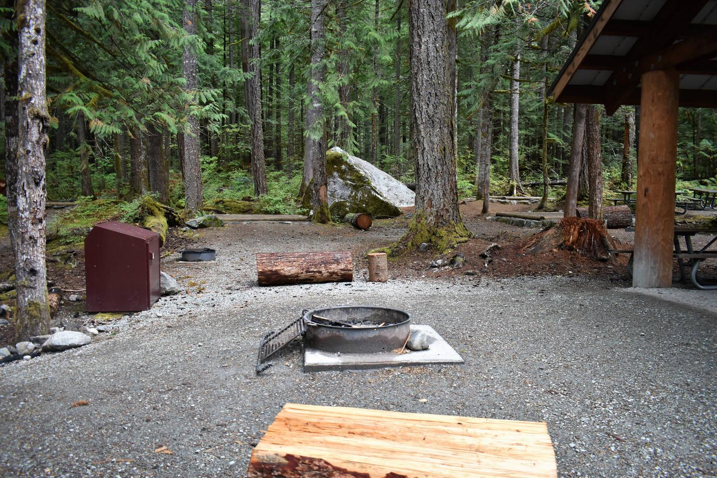 Fire circleView of campsite