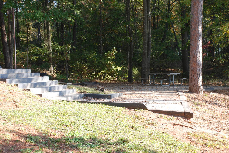 Site 8, STEPS TO PICNIC PADSite 8, steps to picnic pad.