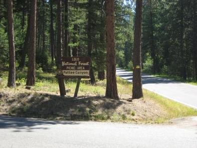 PATTEE CANYON PICNIC AREAPicnic area entrance
