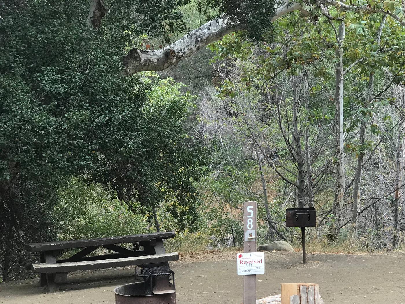 Wheeler Gorge Site 58