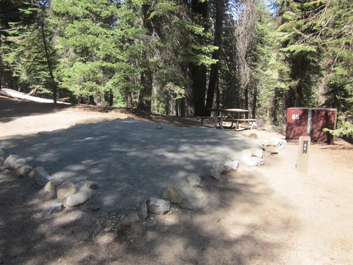 Site 65, Partial Shade, Near Creek and Restrooms