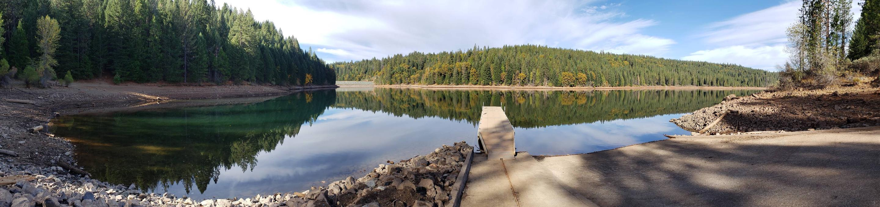 Sugar pine reservoir from the public boat ramp.