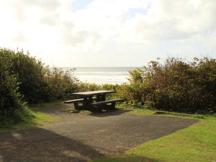 Picture of campsite with picnic tableCampsite A23