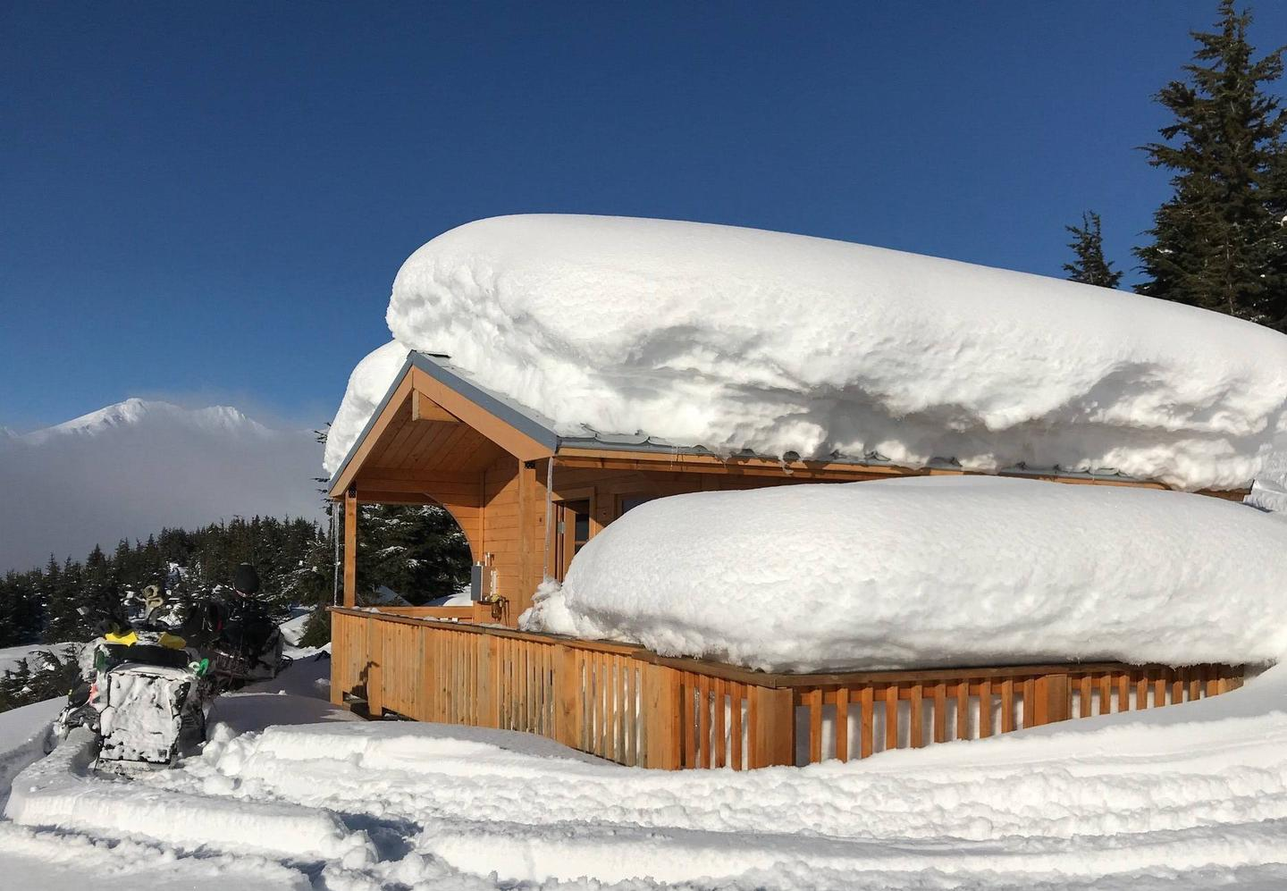 SBC is accessible via snowmobile on a good snow year.Winter time at Spencer Bench Cabin