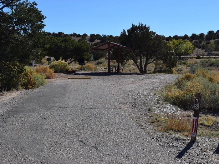 Site 13Camp site 13, Pedernal loop, Riana Campground