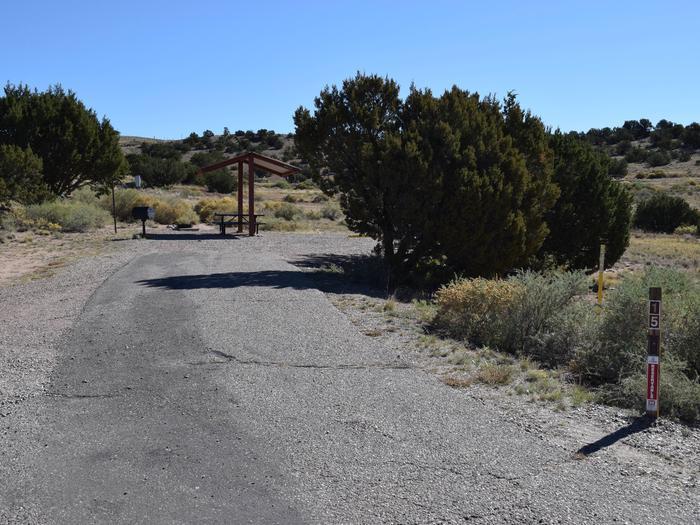 Site 15Camp site 15, Pedernal loop, Riana Campground