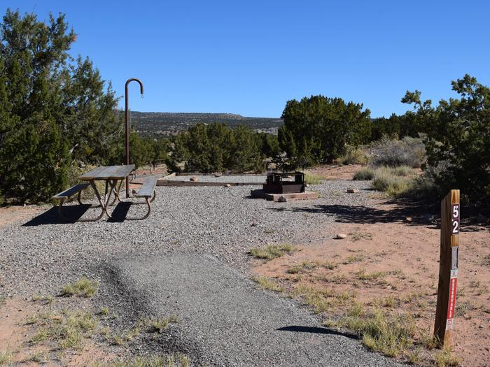 Site 52Camp site 52, Tent loop, Riana Campground