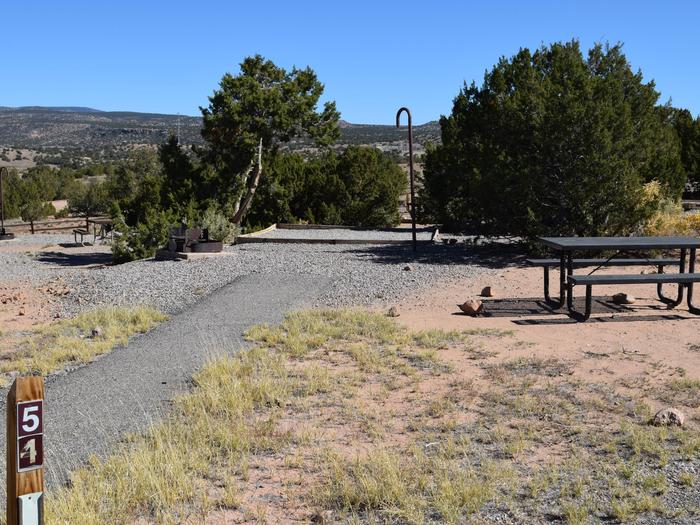 Site 54Camp site 54, Tent loop, Riana Campground