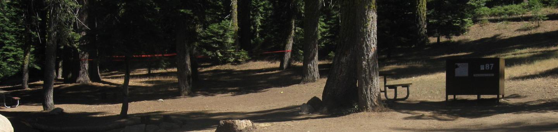 Site 87, no generator loop, partial shade