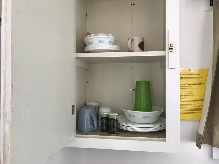 Orange Olsen Cabin Kitchen Cabinet (Items in photo may or may not be present during reservation)