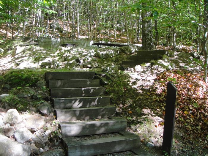 B-03 - stairs up to access site