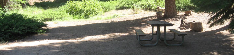 Site 98, no generator loop, partial shade, near creek