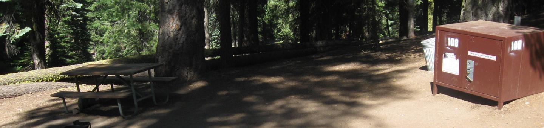 site 108, no generator loop, walk-in site, one vehicle, partial shade