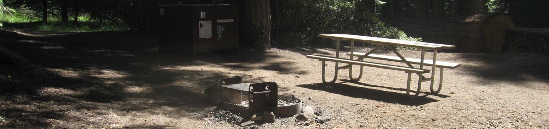 site 111, no generator loop, walk-in site, one vehicle, partial shade