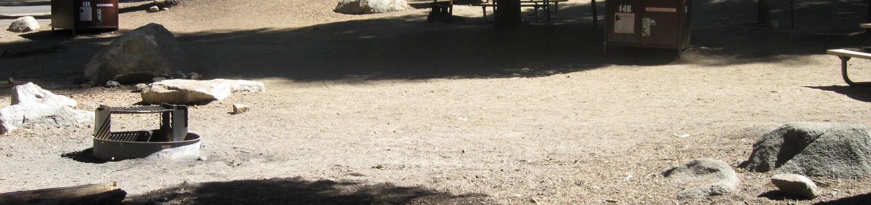 site 146, sunny, near restrooms